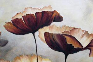 Målning av vallmo